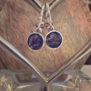 "Pandora ""Dark Enchantment"" Earrings"
